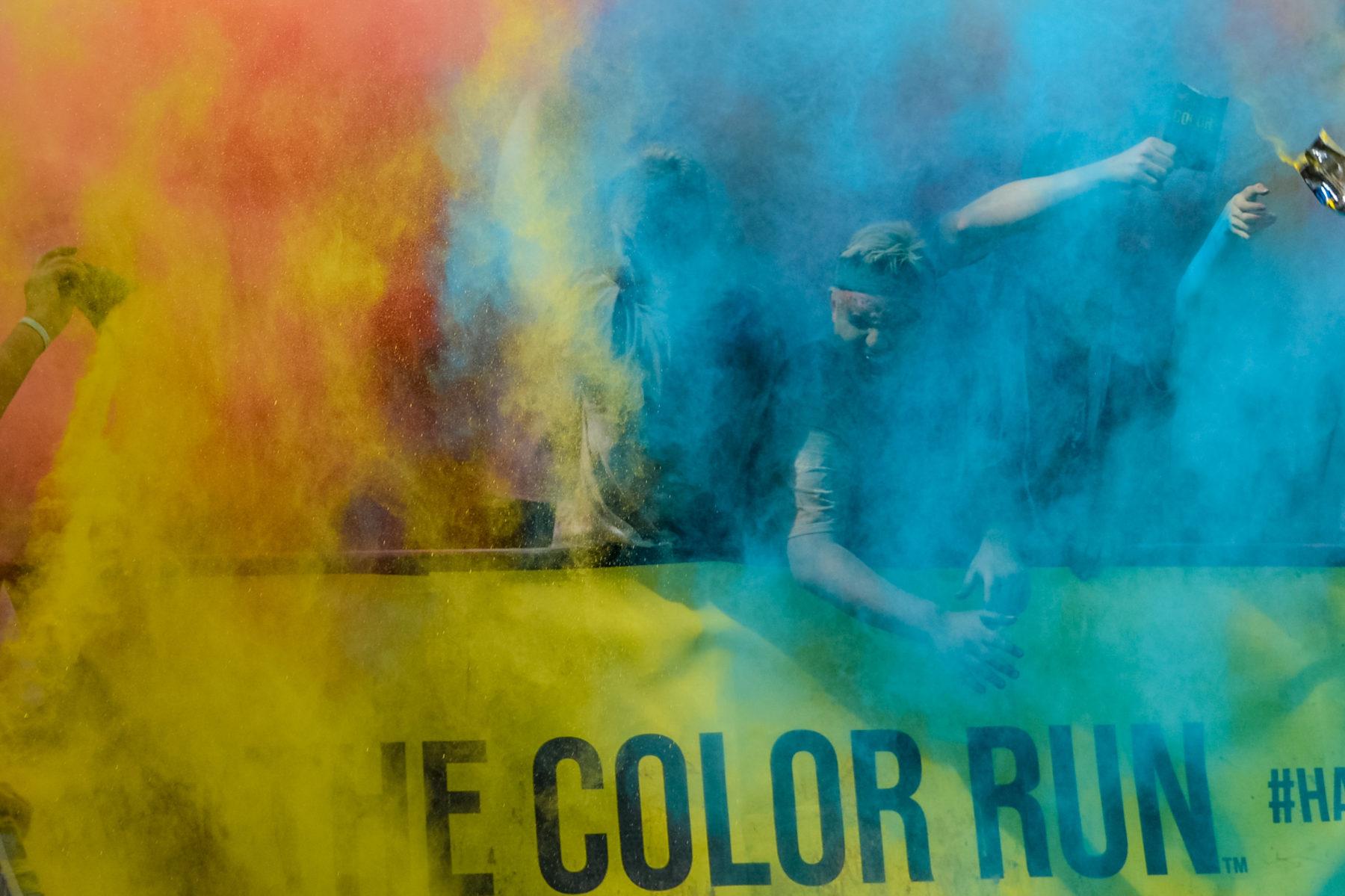 the color run 2016 mit kontraschall veranstaltungstechnik und t-shirt kanone daniel aminati