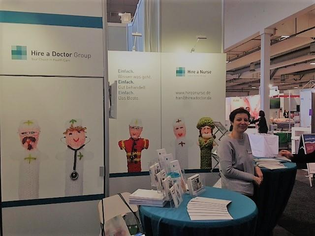 messestand der hire a doctor group aus berlin von kontraschall event technik